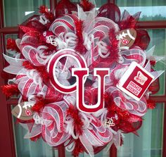Oklahoma Sooner Boomer Fan Deco Mesh Wreath by Crazyboutdeco, $99.00