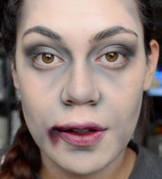 easy zombie makeup step by step