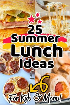 Try these twenty-five summer lunch ideas from Pint-sized Treasures. Crazy EASY summer lunch ideas are perfect for busy families! Kids love these recipes and so do moms. They're super simple, super yummy, and are ready in only minutes! Baby Puree Recipes, Pureed Food Recipes, Crockpot Recipes, Healthy Recipes, Easy Lunches For Kids, Kids Meals, Lunch Snacks, Lunch Ideas, Finger Foods