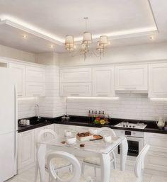 Французский стиль на современный лад для кухни и гостиной: Кухни в . Автор – Студия дизайна Interior Design IDEAS