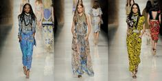 Etro SS14 #runways #fashion Emperors New Clothes, New Outfits, Kimono Top, Cover Up, Women Wear, Runway, Tops, Dresses, Fashion