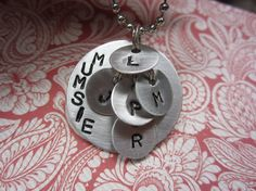 Custom Metal Stamped Charm for Mother Aunt Grandma by thelittlecraftcloset, $28.00