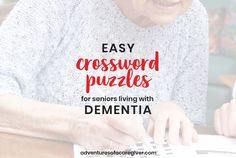 Make personalized easy crossword puzzles for seniors living with dementia. Alzheimer's and dementia activity. Alzheimer's and dementia activity Games For Elderly, Elderly Activities, Senior Activities, Team Building Activities, Craft Activities, Activities For Dementia Patients, Alzheimers Activities, Physical Education Games, Physical Activities