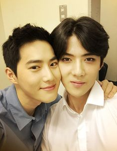 Suho, Sehun - 150705 Official EXO-L website update - [HQ]  Credit: Official EXO-L website.