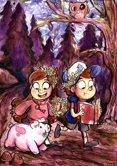 Gravity Falls Watercolor by sharpie91 on deviantART: