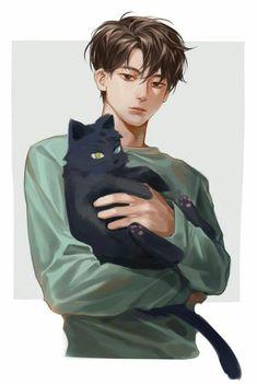 New Cats Anime Guy 40 Ideas - Art/tutorials - Katzen Anime Boys, Anime Cat, Hot Anime Guys, Manga Boy, Cute Anime Boy, Male Manga, Character Inspiration, Character Art, Character Concept