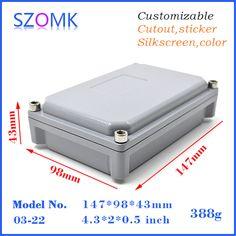 IP65 aluminum waterproof enclosure box (1 pcs) 147*98*43mm 2015 new aluminum instrument enclosure, electronic project boxes