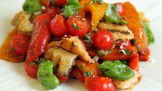 Grillet paprikasalat Recipe Boards, Caprese Salad, Raw Food Recipes, Bruschetta, Plant Based, Grilling, Clean Eating, Gluten, Vegan