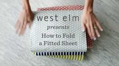The remarkably easy way to fold a fitted sheet -- watch and learn in under 1 minute! Stop struggling and maximize your storage space like magic. Cleaning Solutions, Cleaning Hacks, Folding Fitted Sheets, Homekeeping, Bedding Shop, Life Organization, Home Hacks, Things To Know, Keep It Cleaner