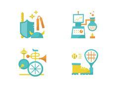 Dribbble - Zoobean Icons by Matt Braun