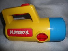 """Vintage 1986 Playskool Toy Flashlight Color Changing Red Green White.....had one so hate to see it called """"vintage"""" lol"""