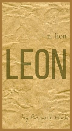 Baby Boy Name Leon Meaning Lion Origin Latin Greek