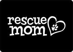 Rescue Mom Vinyl Dog Decal Paw Print Just for the Dog Lover Dog Sticker Car Sticker on Etsy, $4.99