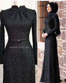 Black elegant hijab evening dress – Best Of Likes Share Hijab Prom Dress, Hijab Gown, Hijab Evening Dress, Muslim Dress, Evening Dresses, Prom Dresses, Abaya Fashion, Muslim Fashion, Fashion Dresses