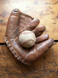 Vintage Left Hand Leather Baseball Glove