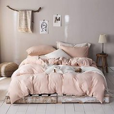 Buy ROOMLIFE Girls Queen Duvet Cover Blush Pink Bedding Sets Queen Blush Comforter Cover Queen Size Hotel Microfiber Bedding Queen Modern Style Lightweight Durable Full Size Duvet Cover Pink: Duvet Cover Sets - Amazon.com ✓ FREE DELIVERY possible on eligible purchases Pink Bedroom Set, Girls Bedroom Sets, Pink Bedding Set, Pink Room, Room Ideas Bedroom, Bedroom Decor, Pink Duvets, Blush Pink Comforter, Comforters