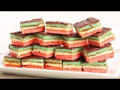 Italian Rainbow Cookies Recipe - Laura in the Kitchen - Internet Cooking Show Starring Laura Vitale