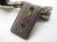Dx5 iPhone 6 sleeve natural mottled wool felt and by anrohr
