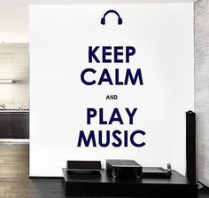 Wall Vinyl Quote Keep Calm And Play Music Guaranteed Quality Decal (z3517)