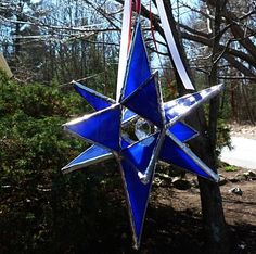Beauiful Stained Glass Colbalt Blue Moravian Star by miloglass, $25.00