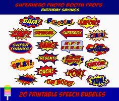 Superhero Speech Bubbles20 Pieces-Comic Book by HappyFiestaDesign