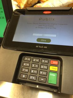 #Ingenico Group's iSC480 caught in action while checking at Publix in Roswell, GA. If you want to learn more about this device please visit our website: http://ingenico.us/smart-terminals/multi-lane-retail-terminals/isc-touch-480.html