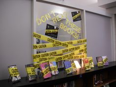 An idea for Banned Books Week. Also, see the ALA Banned Books site for other ideas and promotional materials.