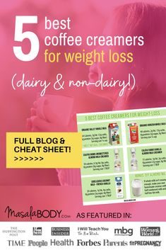 Finally! An Easy Guide to the Best Coffee Creamers for Weight Loss. Includes: The 2 best dairy creamers for weight loss - and the 3 best dairy-free creamer options that are still low in sugar. About: curb sugar cravings, sugar cravings detox, sugar cravings alternatives.