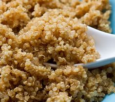 How to make fluffy quinoa every time! - This gives really great tips and gives a spiced quinoa recipe that is really good. I definitely recommend this page if you are interested in trying quinoa! How To Cook Barley, How To Cook Quinoa, How To Season Quinoa, Good Healthy Recipes, Vegan Recipes, Cooking Recipes, Healthy Choices, Cooking Bacon, Snacks Recipes
