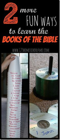 Fun ways to learn the Books of the Bible - These are such fun clever ideas…