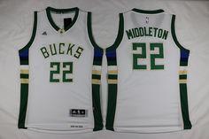 Men s NBA Milwaukee Bucks  22 Khris Middleton 15-16 New White Cheap Nba  Jerseys 6f58e35849c