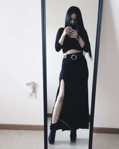 turn that crummy dress thing you have into a high waisted skirt (Gothic Fashion Grunge)