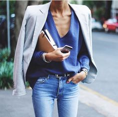 Jeans and a blazer