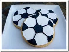Soccer Ball Sugar Cookies with Royal Icing