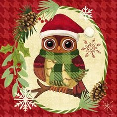 Christmas Critters-Owl by Jennifer Brinley | Ruth Levison Design