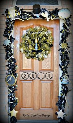 New Years Door @ Cat's Holiday & Home Decor