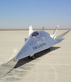 In this historical photo from the U.S. space agency, the X-24B is seen here on the lakebed at the NASA Dryden Flight Research Center, Edwards, California, in January of 1973. The X-24B was the last aircraft to fly in Dryden's Lifting Body program. Lifting bodies were wingless vehicles designed to fly back to Earth from space and be landed like an aircraft at a pre-determined site.