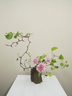 Ikebana Flower Arrangement, Ikebana Arrangements, Flower Vases, Flower Art, Floral Arrangements, Arte Floral, Japanese Flowers, Japanese Art, Love Flowers