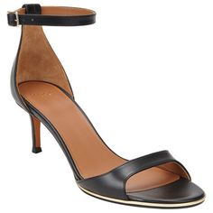 10 Midi Heels To Wear All Day Long | Givenchy curved-band ankle-strap sandal, $650