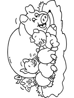 Animals Coloring Pages Farm Animal Coloring Pages, Coloring Book Pages, Coloring Sheets, Embroidery Transfers, Hand Embroidery, Farm Theme, Drawing For Kids, Print Pictures, Coloring Pages For Kids