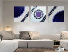 CUADROS TRIPTICOS: Diy Wall Art, Home Wall Art, Wall Art Decor, Tape Painting, Painting Frames, Diy Canvas, Canvas Wall Art, Drip Art, Fence Art