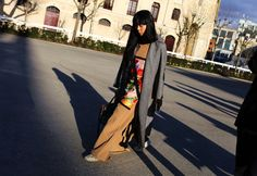 Susie Lau in a Miu Miu coat and with a Gucci bag #fashionbag