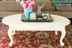 Ivory Parisian Coffee Table - Restoration Redoux
