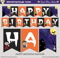 halloween birthday banner