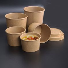 Cheap bowl with lid, Buy Quality soup bowl directly from China paper bowl Suppliers: Cowhide paper packing box circle soup bowl disposable lunch box good quality thickening paper bowl with lid Disposable Lunch Boxes, Disposable Food Containers, Soup Containers, Ice Cream Containers, Salad Packaging, Food Box Packaging, Food Packaging Design, Paper Packaging, Food Logo Design