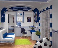 soccer room.. made for my boy.. I'll make him like this.