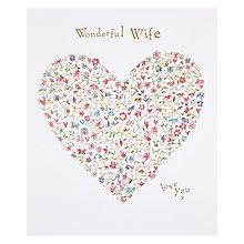 Buy Woodmansterne Heart Full Of Flowers Wonderful Wife Birthday Card Online at johnlewis.com