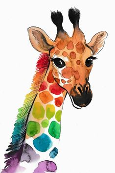 Are You Currently Trying To Locate Watercolor Arts Inspirations ? Browse Our Web Site And Then Look At Our Very Own Watercolor Art Album. Giraffe Drawing, Giraffe Painting, Giraffe Art, Giraffe Colors, Giraffe Illustration, Watercolor Illustration, Animal Illustrations, Watercolor Artwork, Watercolor Animals