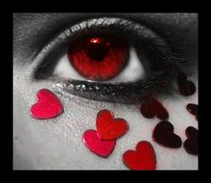 Red Eye & Heart Make-up - eyes Photo Eyes Without A Face, Look Into My Eyes, Pretty Eyes, Beautiful Eyes, Amazing Eyes, Photos Of Eyes, Eyes Problems, Little Bit, Light Therapy