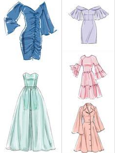 Dress Design Drawing, Dress Design Sketches, Fashion Design Sketchbook, Dress Drawing, Fashion Design Drawings, Fashion Sketches, Clothes Design Drawing, Clothing Sketches, Fashion Drawing Dresses